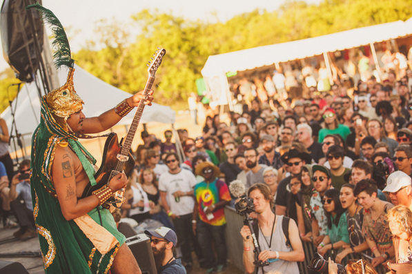 The King Khan & BBQ Show at Austin Psych Fest 2013 Photo by Pooneh Ghana
